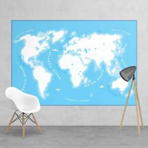Colour in Kids Map Educational Wall Mural | 158cm x 232cm