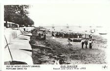 Isle of Wight Postcard - Old Seaview - Beach and Chain Pier c1913  - U680