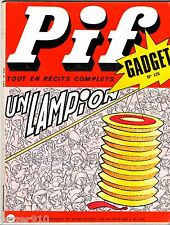 -°- PIF GADGET n°125 -°- VAILLANT n°1363 -°- 07/1971