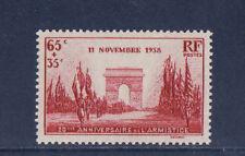 nf7/ timbre France 20ème anniversaire de l'armistice    neuf  num: 403  **