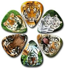 6 TIGER ~ Guitar Picks ~ Plectrums ~ Printed Both Sides