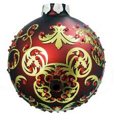 Disney Parks Victorian Mickey Mouse Jeweled Ornament Christmas Ball