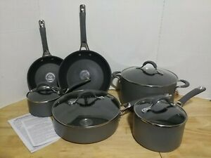 Circulon Radiance 83903 Hard Anodized Non Stick 10 Piece Set, Gray NEW Blemishes