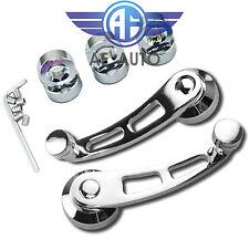 2pcs Chrome Polished Aluminum Window Crank Handle Winder For Car/Truck Pickup