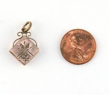 Antique Gold Filled Watch Fob Mourning Locket Charm