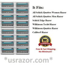 *16 Schick Quattro Titanium Cartridges Razor Blades Refills use W Quatro Trimmer
