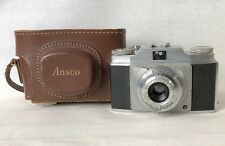 Vintage Ansco Memar Pronto 35 mm Film Camera with Leather Case