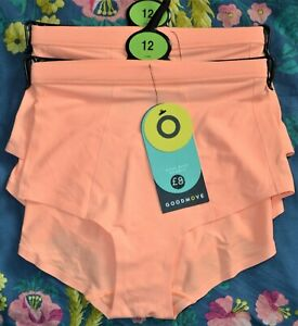M&S GOODMOVE HIGH RISE SHORTS KNICKERS 2 PAIR SIZE 12 TANGERIN - BNWT