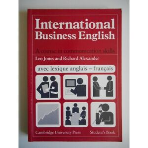International Business English Livre en Anglais / Jones, L/ Alexander, Ri / Réf3