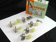 Kluson SD90SLN Tuners 3X3 Single Ring Keystone Button Single Line 15:1 Nickel