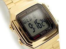 CASIO, A178WGA-1A, RETRO VINTAGE LOOK GOLD TONE DIGITAL, 10-YEAR BATTERY, UNISEX
