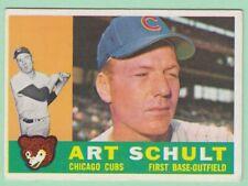 1960 Topps # 93 Art Schult -- Chicago Cubs -- Box 722-179