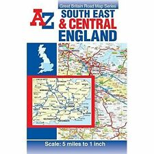 South East & Central England Road Map by Geographers A-Z Map Co. Ltd. (Sheet map, folded, 2014)