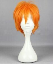 Male orange short hair cosplay wig Xiangyang Cos any face-shape fashion hot B1#