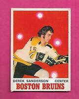 1970-71 OPC # 136 BRUINS DEREK SANDERSON VG+  CARD  (INV# C8149)