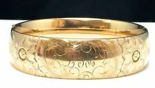 Bates & B Gold Filled Initial Engraved Bangle Bracelet Broken Clasp