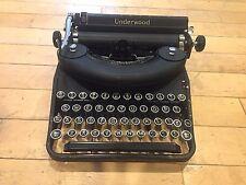 Black metal Underwood Elliott Fisher Antique Typewriter