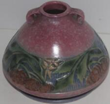 Roseville Pottery Baneda Base Pumpkin Fruit PInk Jardiniere 603-4 FREE SHIPPING!