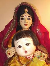 Ooak Doll from India and Japanese Doll Head Horror Gothic Halloween Prop