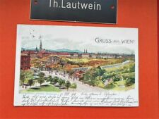 Ak Wien Wienthalbahn Station Stadtpark 1899 gelaufen Österreich Postkarte
