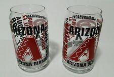 Est. 1998 Arizona Diamondbacks 2 Drinking Glasses As Can Shaped Boelter/Mlbp