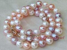 45cm, collier, perles d'eau douce, multicolores, 7-8mm