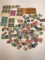 Huge Lot Of Used And Unused Vintage Stamps USA Freedom Canada 1950s