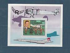 Centrafrique bloc histoire de l' aviation  dont concorde 1977   num: 19 **
