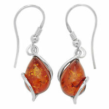 Hook Amber Natural Fine Earrings