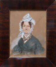 """Friedrich Randel (1808-1886) """"Portrait of a Russian (?) Lady"""", Pastel, 1837"""