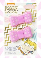 Rugrats 2 Lip Glosses Chocolate & Cookie Flavored Angelica Bow LIMITED EDITION