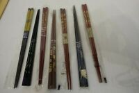 TT28 - lot of 6 PAIRS of LACQUER AND INLAY JAPANESE CHOPSTICKS  -- ALL NEW