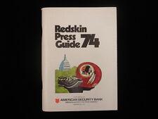 1974 Washington Redskins NFL Media Guide