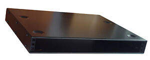 1U RACK CABINET 400mm deep 19 inch  STACKABLE  NETWORK  case  in black