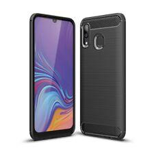 Samsung Galaxy A40 Handy Hülle Schutzhülle Silikon Cover Soft Case Carbon farben