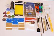 iPhone 8 Plus Negro Kit de Reparación Pantalla Vidrio Frontal, Marco Instalado