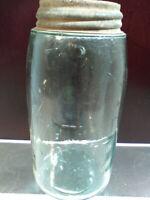 Antique aqua Mason's patent nov 30th 1858 quart jar