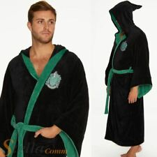 Adult Harry Potter Slytherin Bathrobe Soft Fleece Hooded Official Dressing Gown