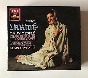 OPERA 2CD BOXSET EMI LEO DELIBES LAKME' ALAIN LOMBARD MADY MESPLE' BURLES SOYER