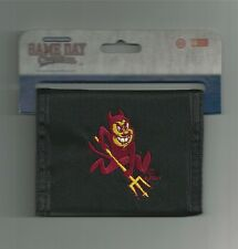 Arizona State Sun Devils Wallet Bi-fold Mens Black Wallet ASU Logo
