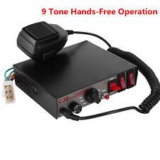 200W 9 Sound Loud Tone Car Police Fire Ambulance Warning Alarm Siren MIC System