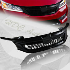 For 2016-2017 Honda Accord Sedan Sport Style Gloss Black Front Hood Grille Grill