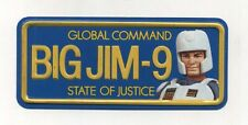 Targa metallo BIG JIM Global command State of Justice BIG JIM-9 metal plate