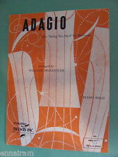 Beethoven Adagio from String Trio Op 8 arr Wm Fichandler piano solo 1961