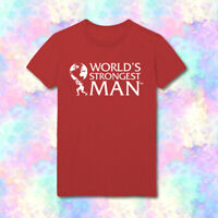 World Strongest Man Text Workout Training Gym Free UK Delivery HD38 T-Shirt