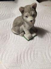 Figurine Ceramic Puppy Pal Siberian Husky / Alaskan Malamute Dog - 8917