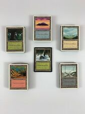 MTG Lot 200+ Played UNLIMITED REVISED 4TH ICE Basic Lands + SNOW COVERED Bonus