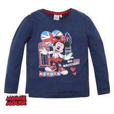 TEE SHIRT manches longues MINNIE 3 ans bleu nuit DISNEY Minnie Mouse Enfant