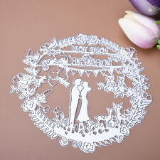 Wedding Metal Cutting Dies Stencil For Scrapbooking Paper Cards Embossing Decor*