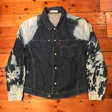 Levis Engineered Jeans Bleached Denim Jacket Large L Skinhead Punk Oi Trucker